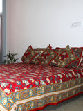 Bed Cover Red Flower Print
