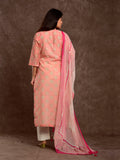Chanderi Silk Gota Patti Gud Booti Set Pink