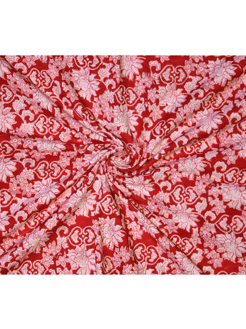Fabric Red Gad Jaal