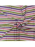 Hand Block Printed Stripes Fabric.