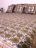 Bed Cover Chattha Jaal Grey