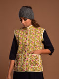 Cotton Quilted Jacket Cream Jaal