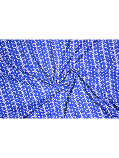 Fabric Blue Geometry Print
