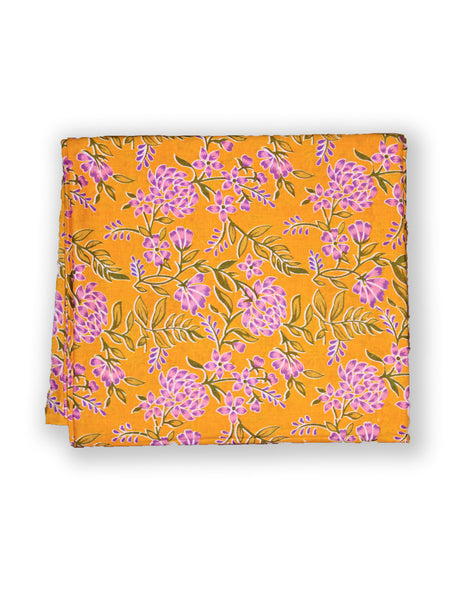 Fabric Jaal Print Yellow Gad