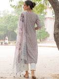 Cotton Shell Tuck Kurta Dupatta 2 Pcs Set