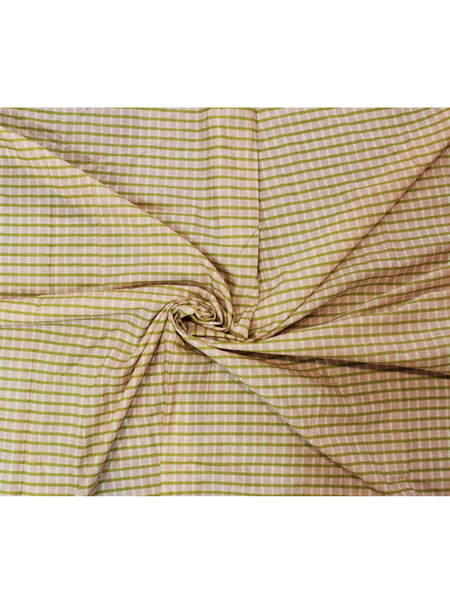 Pure Cotton Hand Printed Checks Fabric.