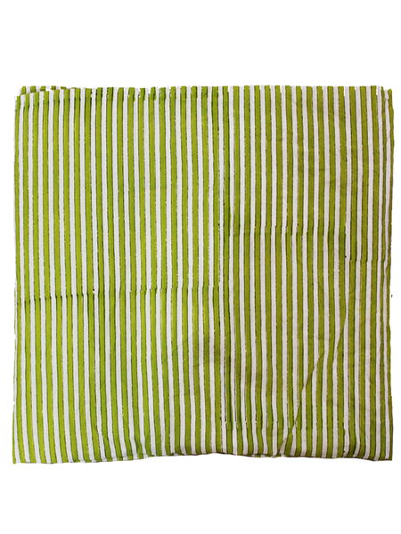 Pure Cotton Hand Printed Stripe Fabric.