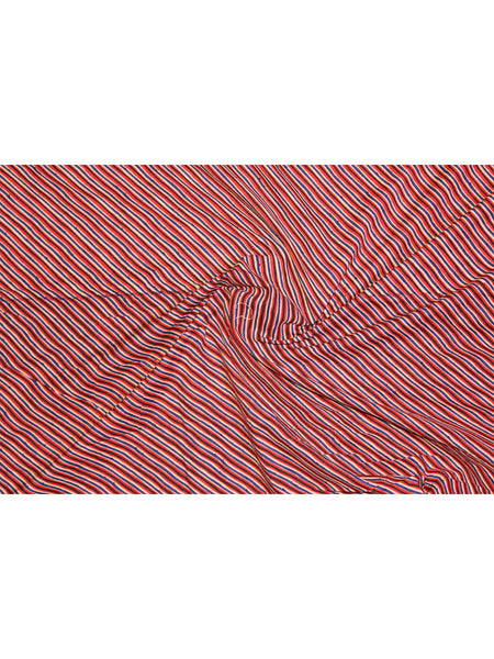 Fabric Red Lehariya Print