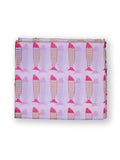 Fabric Fish print Pink & Gold