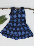 Dark Blue Cotton Girls Frock