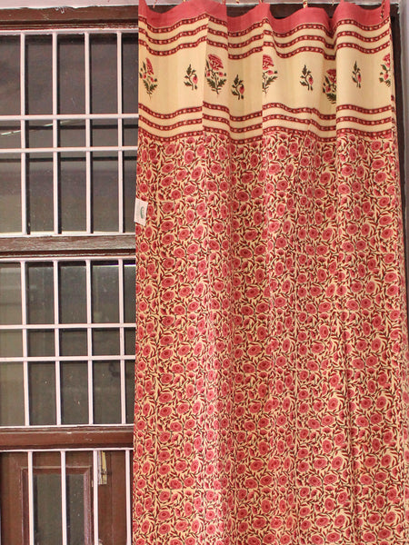 Curtain Mughal Jaal Pink