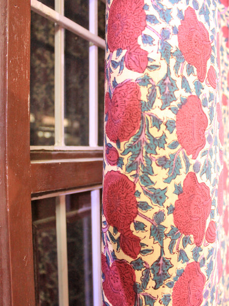 Curtain Chattha Jaal Red
