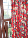 Curtain Red Big Flower Jaal