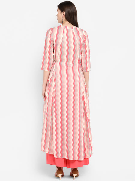 Women Dress Pink Lehariya