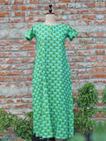 Women Night Gown Green Jaal