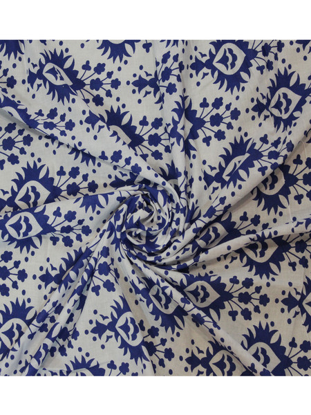 Floral Print Screen Printed Fabric.