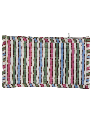 Multi Color Hand Block Printed Cotton Pouch