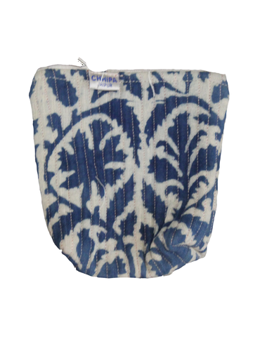 Indigo Print Cotton Coin Pouch