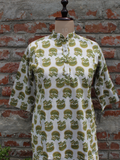 Chhipa Screen Print Kurta with Pockets