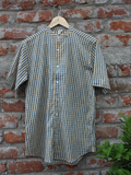 Checks Print Half Sleeves Men Shirt.