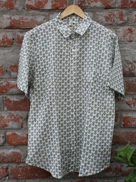 Small Butta Print Half Sleeves Men Shirt.