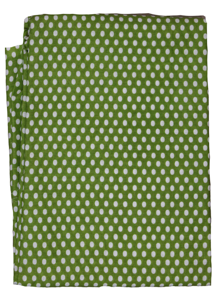 Polka Dots Screen Printed Fabric.