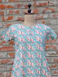 Women Night Gown Paisley Pink
