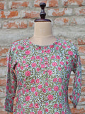 Cotton Women Tunic Firozi Jaal