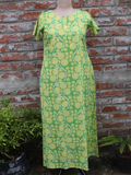Women Night Gown Green Floral Jaal