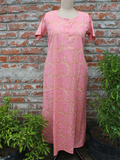 Women Night Gown Peach Floral Jaal.