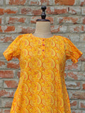 Women Night Gown Yellow Paisley