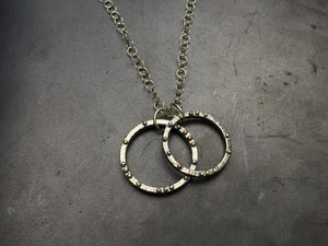 Pinned Double Circle Necklace