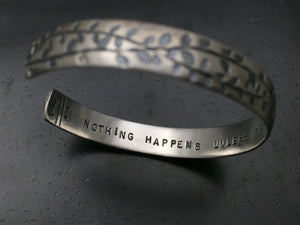 Adoration Vines Bracelet with Quote