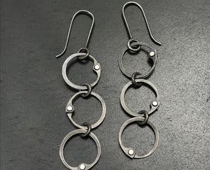 Triple Clutch Earrings