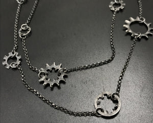 Double Gear Chain Necklace
