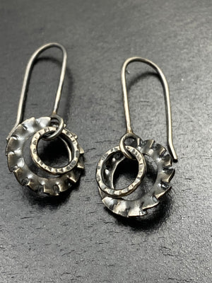 Swirl Tooth Gear Dangles