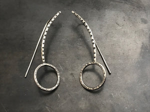 Encircled Long Dangle Earrings - Large