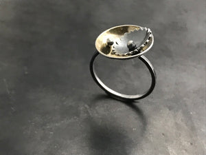 Nest Ring with 22k BiMetal