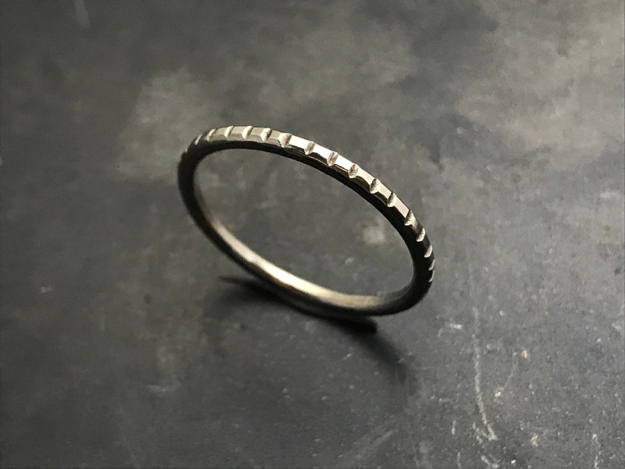 Stacking Ring II - 14k White Gold