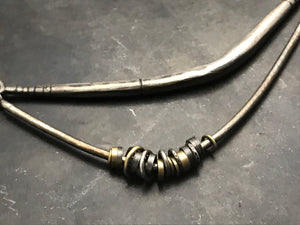 Asymmetrical Forged Necklace