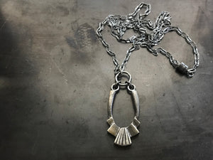 Architectural deco necklace