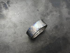 Titanium Hammered and Edged band