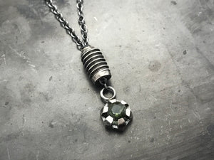 Nut & Bolt Moldavite Necklace