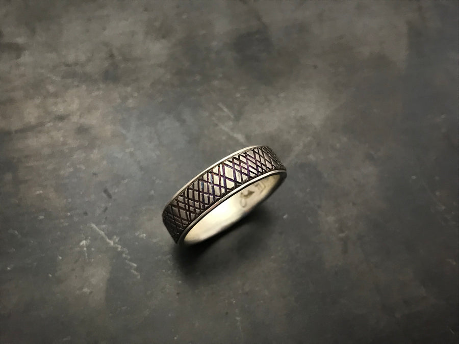 Titanium with Tread and Sterling Silver