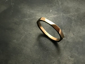 Architectural Stacking Ring I - peach gold
