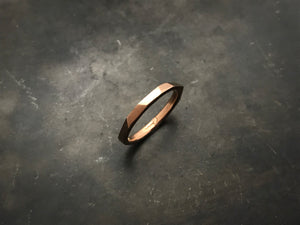 Architectural Stacking Ring I - rose gold