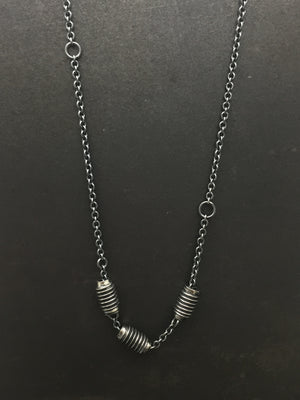 Triple Bolt Necklace