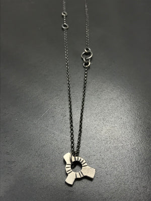 Long Layering Gear Necklace - I