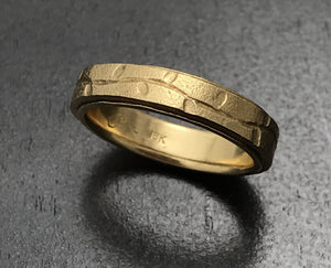18K Yellow Gold Layered Vine Band