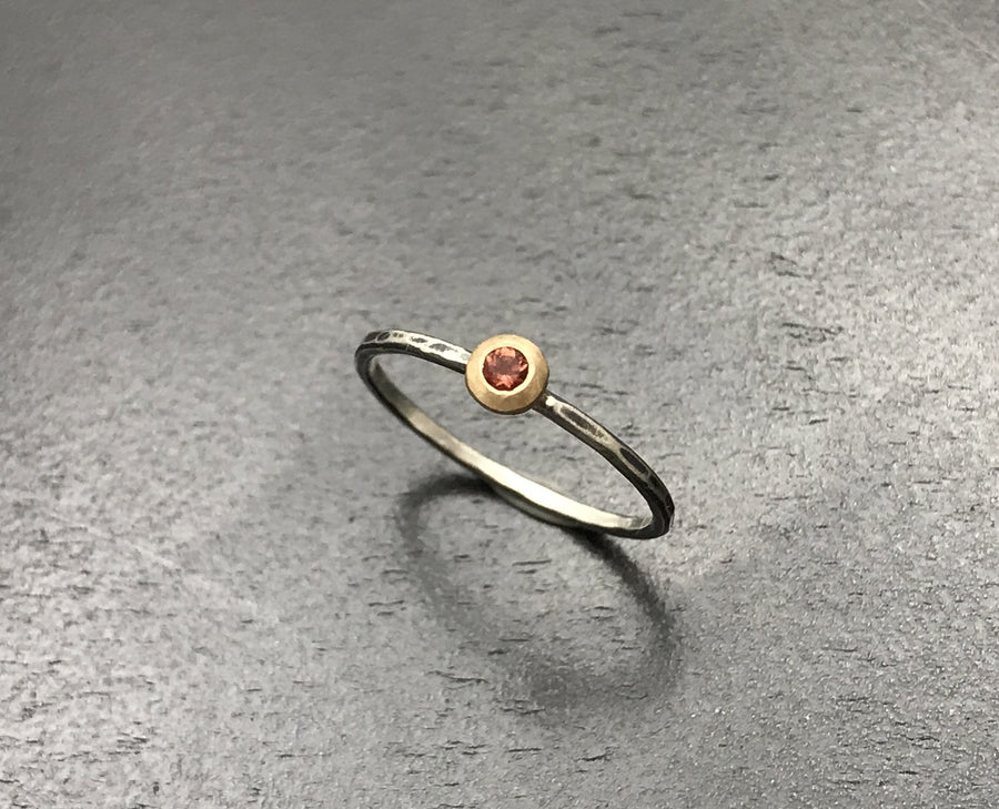 Oregon Sunstone Stacking Ring - Faceted